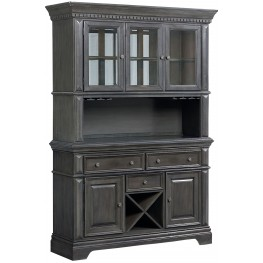 Garrison Burnished Grey Buffet With Hutch