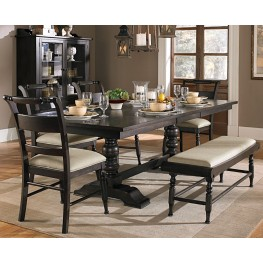 Whitney Trestle Extendable Dining Room Set