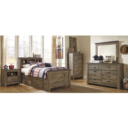 Trinell Brown Youth Bookcase Bedroom Set