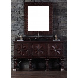"Balmoral 60"" Antique Walnut Double 4CM Top Vanity Set"