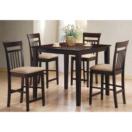 Cappuccino 5 Piece Counter Height Dining Room Set 150041