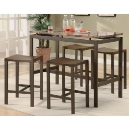 Atlas Brown Metal Counter Height Dinette Set