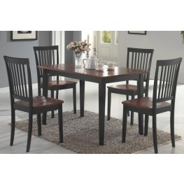 Oakdale Tobacco/Black 5 Pcs Dining Room Set