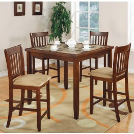 Normandie Cherry 5 Pcs Counter Height Dining Room Set