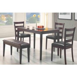 Taraval Dark Brown 5 Pcs Counter Height Dining Set