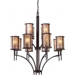 Barringer Aged Bronze 8+4 Light Chandelier