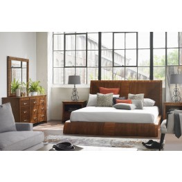 Milan Medium Brown Platform Bedroom Set