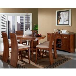 Milan Triangular Counter Height Dining Room Set