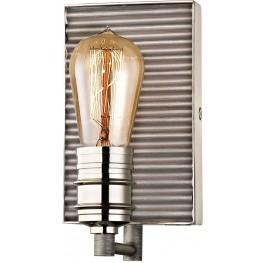 Corrugated Steel Weathered Zinc And Polished Nickel 1 Light Vanity