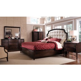 Intrigue Leather Panel Bedroom Set