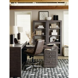 "House Blend Gray 74"" Home Office Set"