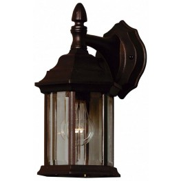 Custom Fit Black 1 Light Wall Lantern