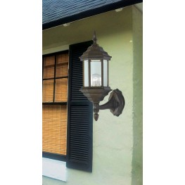 Custom Fit Golden Bronze 1 Light Wall Lantern