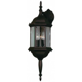Custom Fit Black 3 Light Wall Lantern