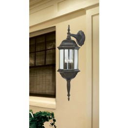 Custom Fit Golden Bronze 3 Light Wall Lantern