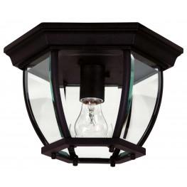 Dural Black 1 Light Flush Mount