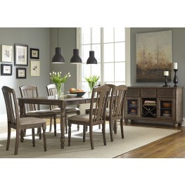 Candlewood Weather Gray Rectangular Leg Extendable Dining Room Set