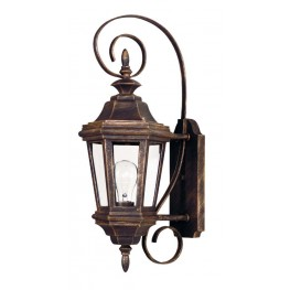 Estate Antique Patina Small Wall Lantern