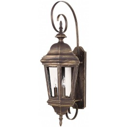 Estate Antique Patina Large Wall Lantern