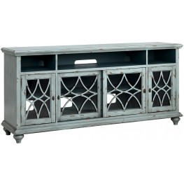 "Bethania Distressed Pale Gray 72"" Media Console"