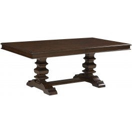 Charleston Tobacco Brown Extendable Trestle Dining Table