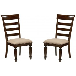Charleston Tobacco Brown Upholstered Side Chair Set of 2