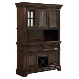 Charleston Tobacco Brown Buffet With Hutch
