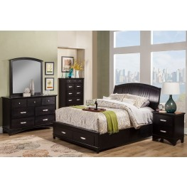 Madison Espresso Storage Bedroom Set