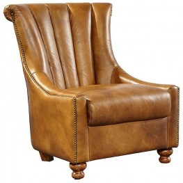 Triton Deep Honey Leather Chair