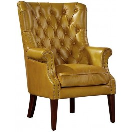 Hudson Yellow Wing Chair