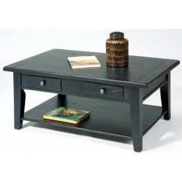 Treasures Black Rectangular Cocktail Table