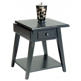 Treasures Black Splay Leg End Table
