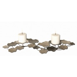 Lying Lotus Metal Candleholders
