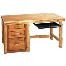 Cedar Standard Right Side File Desk With Keyboard Slide