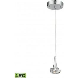 Alea Polished Chrome 1 Light LED Pendant