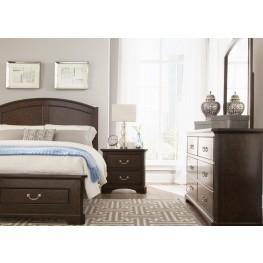 Avington Dark Cognac Panel Bedroom Set