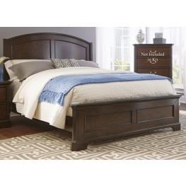 Avington Dark Cognac Queen Panel Bed