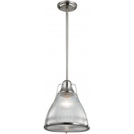 Halophane Brushed Nickel 1 Light Pendant