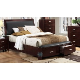 Lyric Espresso Cal. King Sleigh Storage Bed