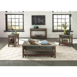 Boho Loft Rustic Brown Rectangular Occasional Table Set