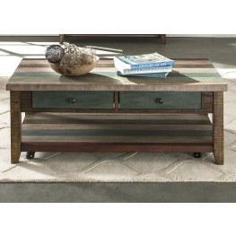 Boho Loft Rustic Brown Rectangular Cocktail Table