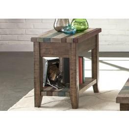 Boho Loft Rustic Brown Chairside Table