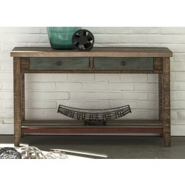 Boho Loft Rustic Brown Sofa Table