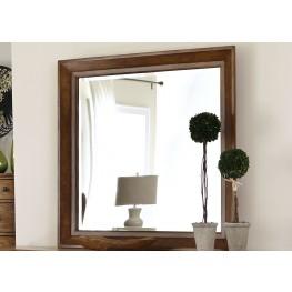 Grandpa's Cabin Aged Oak Mirror
