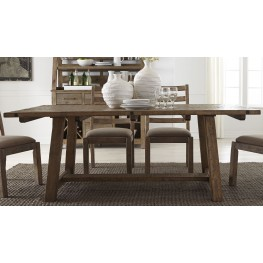 "Prescott Valley Antique Honey 77"" Rectangular Dining Table"