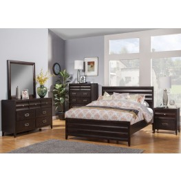 Legacy Cherry Panel Bedroom Set