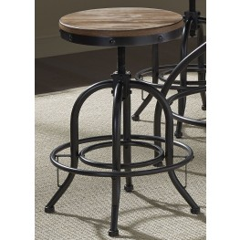 "Vintage Weathered Gray 24"" Barstool"