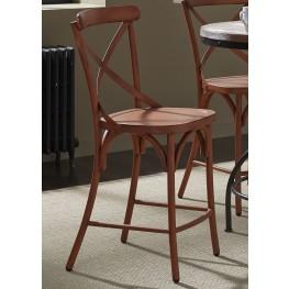 Vintage Orange X Back Counter Chair Set of 2