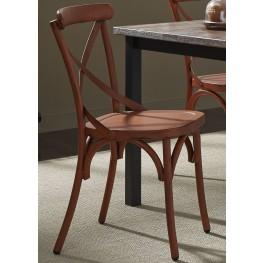 Vintage Orange X Back Side Chair Set of 2