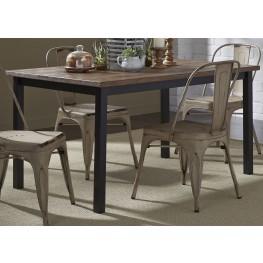 Vintage Weathered Gray Rectangular Leg Dining Table